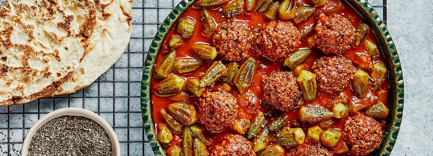 Okra Stew with Spicy Sausage