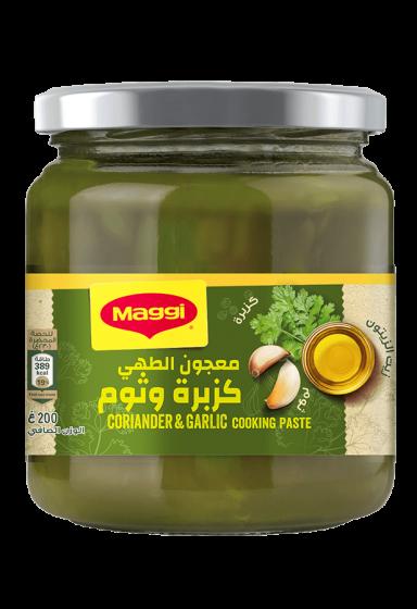 coriander and garlic cooking paste